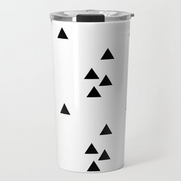 Floating triangles Travel Mug