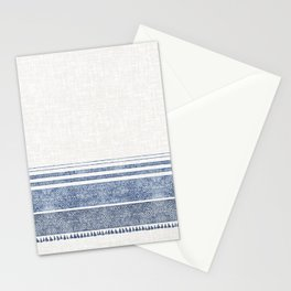 FRENCH LINEN CHAMBRAY TASSEL Stationery Cards