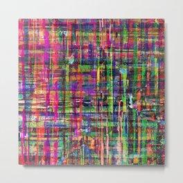 Abstract Plaid Multi-coloured 1009 Metal Print