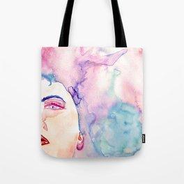 Burning Girl Tote Bag