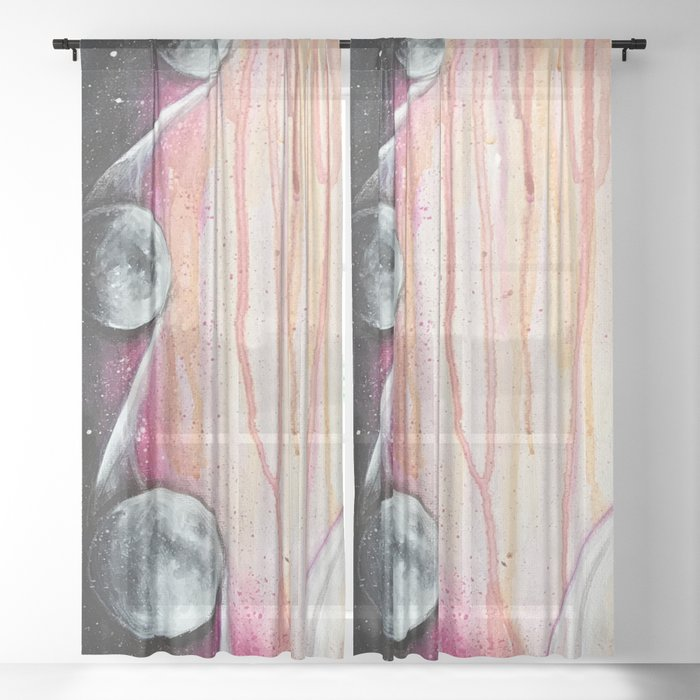 Moon Phases Sheer Curtain