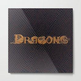 """Dracoserific"" Dragons Metal Print"