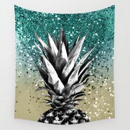 Pineapple Lemon Twist Glitter Glam #1 #tropical #fruit #decor #art #society6 Wall Tapestry