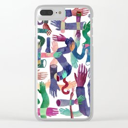 Color Hands Clear iPhone Case