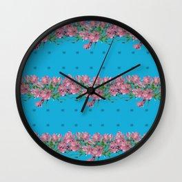Pattren Flowers Wall Clock