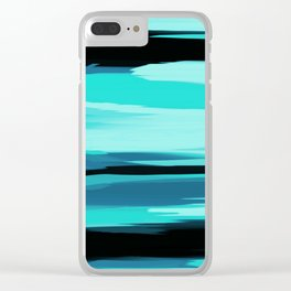 Soft Determination Aquamarine Clear iPhone Case