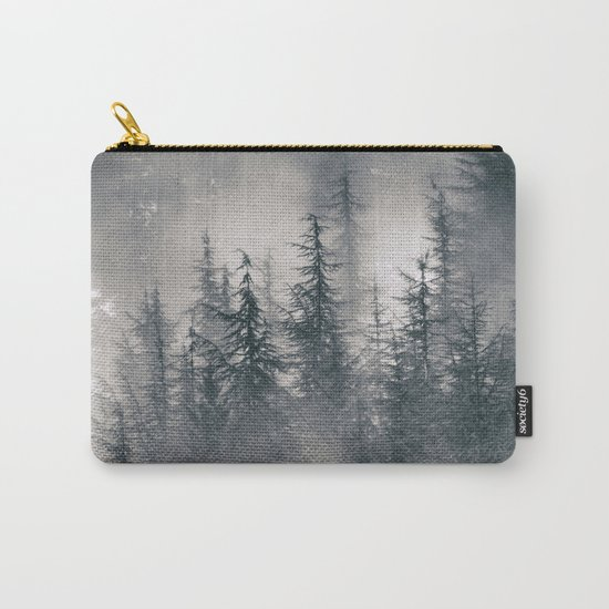 """Mountain light II"". Foggy forest. Carry-All Pouch"