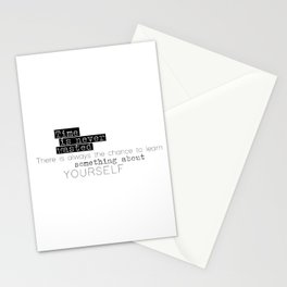 something about yourself Stationery Cards