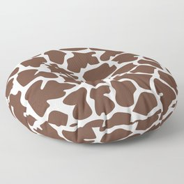 Animal Print (Giraffe Pattern) - Brown White Floor Pillow