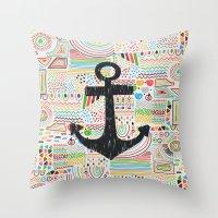 anchor Throw Pillows featuring Anchor by Berreca