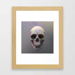 Skull Colorful Wires 1 Framed Art Print