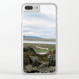 Abandoned :: A Lone Canoe Clear iPhone Case
