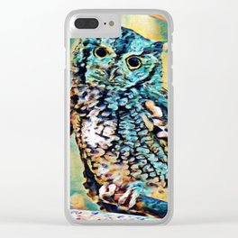 Screech Owl | Painting Clear iPhone Case