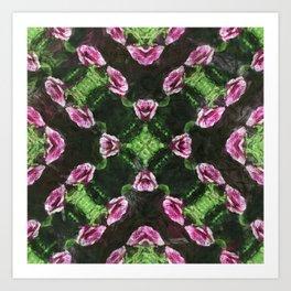 Rosas Moradas 2 Kaleidoscope 14 Art Print