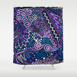 Trip the Light Electric Shower Curtain