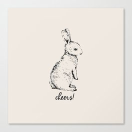 cheers little bunny Canvas Print