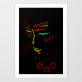 Indiano Tribal Art Print
