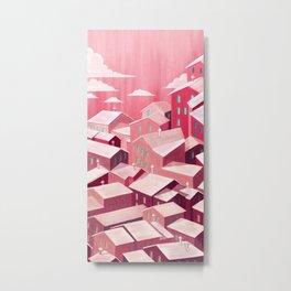 Pink city Metal Print