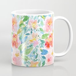 Busy Watercolour Floral Coffee Mug