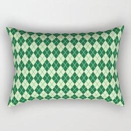 Green Argyle Pattern Rectangular Pillow