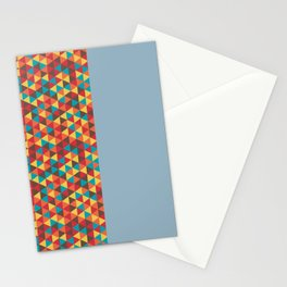 Retro Bicolore Geometric Design Stationery Cards