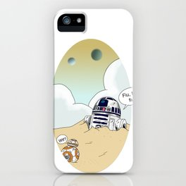 R2-d2 and BB-8 iPhone Case