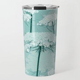 Queen Annes Lace Romance Pattern | Light Mint Travel Mug