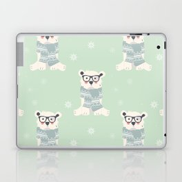 Polar bear pattern 003 Laptop & iPad Skin