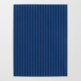 Blue stripe Poster