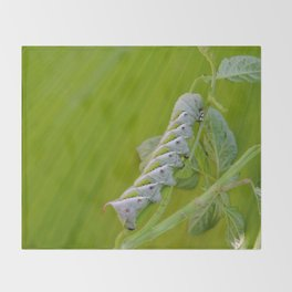 Tomato Horn Worm Throw Blanket