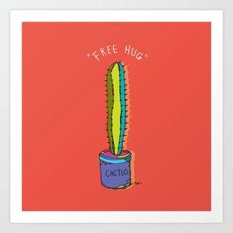 free hug cactus Art Print