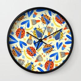 Ladybug Botanical  Wall Clock