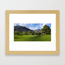 The Langdale Pikes from Copt Howe. Framed Art Print