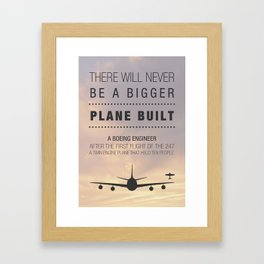 Aeroplane (r)Evolution Framed Art Print