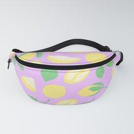 Lemon Pattern Violett Fanny Pack