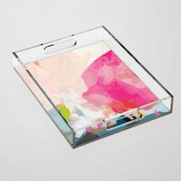 pink sky Acrylic Tray