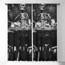Six Skeletons Smoking Blackout Curtain