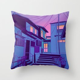 Kyoto Alley Throw Pillow