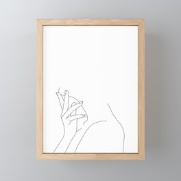 Figure line drawing illustration - Josie Framed Mini Art Print