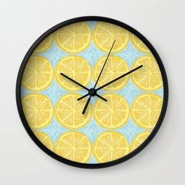 Blue Lemonade Wall Clock