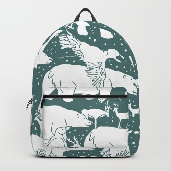 Polar gathering (emerald) Backpack