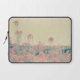 Vintage Spring Soft Pink Wildflowers Laptop Sleeve