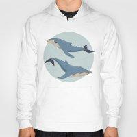 whales Hoodies featuring Whales by Evgeniya Ivanova