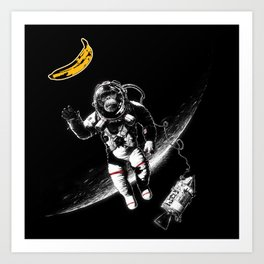 Space Monkey (nd a place to be) Art Print