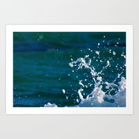 salt water Art Prints featuring Salt Water by Diana Chan