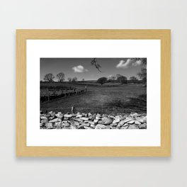 A Winter Field Framed Art Print