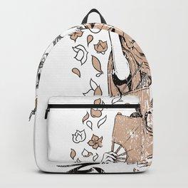 Geisha Skull with a Katana Backpack
