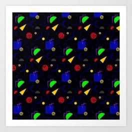 Geometric 90's Bowling Pattern Art Print