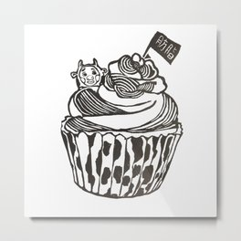 the cake in the story of body fat Metal Print