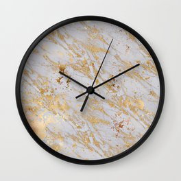 Marble Gold 1 Wall Clock
